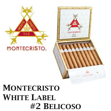 Montecristo White Label Belicoso #2 Cigars